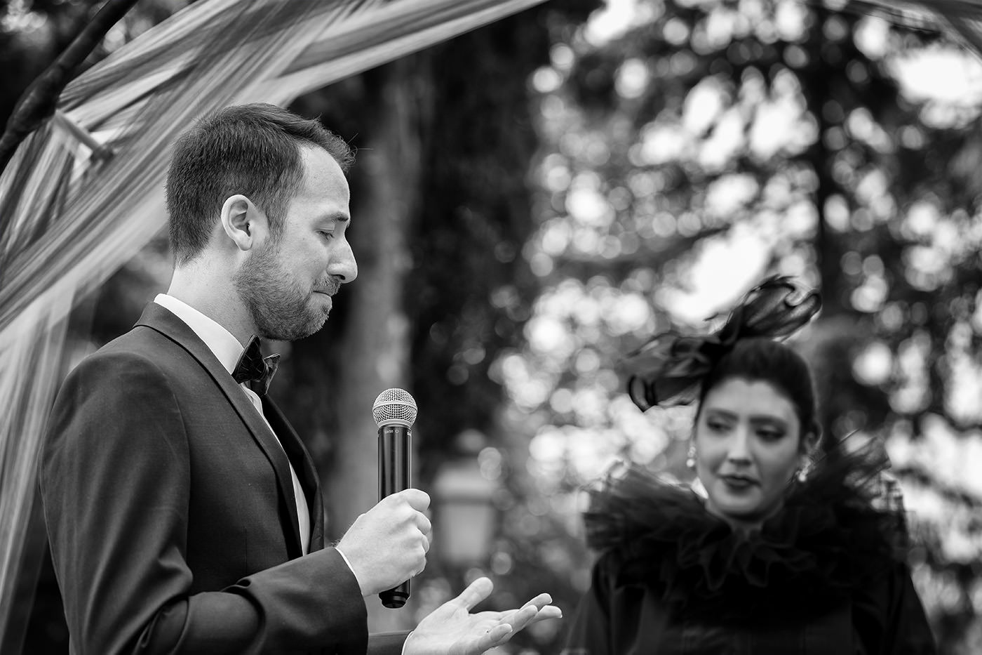 Same-Sex Wedding Photographer Florence: Timur & Guillaume. Emotional moment during the wedding ceremony